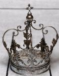 Large Decorative Antique Silver Iron Crown - 30 x 20 x 20 cm